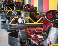 Row of go-carts Royalty Free Stock Photo
