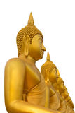 Row of Golden Buddha statue in Thailand Phichit, Thailand Royalty Free Stock Photos