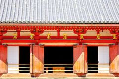 Row of golden lanterns hanging at Daigo-ji, Kyoto, Japan Stock Images