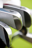 Row of golf shaft Royalty Free Stock Photos