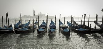Row of Gondolas Royalty Free Stock Photo