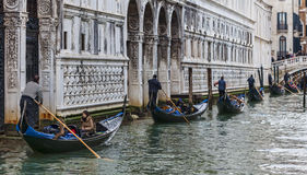 Row of Gondolas Royalty Free Stock Photos