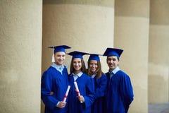 Row of graduates stock photo