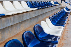 Row of Grandstand chairs in stadium Royalty Free Stock Image