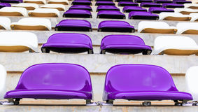 Row of Grandstand chairs in stadium Stock Image