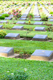 Row of grave stone in War Cemetery Stock Photos