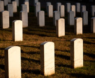 Row of grave stones in Arlington Stock Images