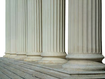 Row of Greek columns. A line of Greek columns in Athens Greece Stock Photo