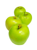 Row of green apples Royalty Free Stock Photo