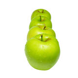 Row of green apples Stock Image