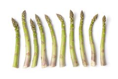Row of green Asparagus stalks Royalty Free Stock Photo