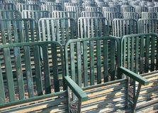 Row of green seats Stock Photography