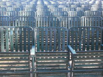 Row of green seats 1 Stock Image