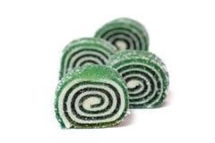 Row of green spiral jujube Stock Photo
