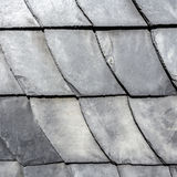 Row of grey roof slate Royalty Free Stock Photography