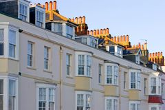 Row of Guest Houses in England stock photos