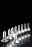 Row of H7 car lamps. A row of H7 automotive lamps Royalty Free Stock Photo