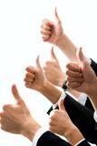 Row of  hands Royalty Free Stock Photography
