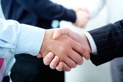 Row of handshakes Royalty Free Stock Photography