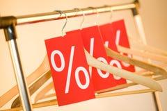 Row of hangers Royalty Free Stock Photos