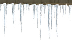 Row of hanging icicles Stock Images