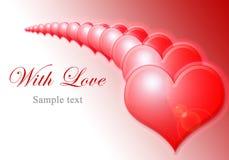 Row of heart shape Stock Photo