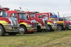 Row of heavy truck Stock Photos