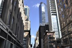 New York, 2nd July: Row of Historic Building in Midtown Manhattan from New York City in United States royalty free stock photography