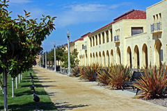 Row of historic naval barracks Royalty Free Stock Image