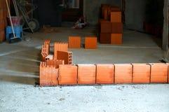 Row of hollow brick Stock Photo