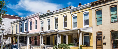 Row Homes Panorama Royalty Free Stock Images