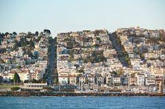 Row of homes in San Francisco Stock Photos