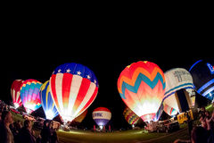 row of hot air baloons Royalty Free Stock Photography