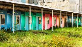 Row House. A row of houses in wilderness area Stock Photography