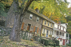 Row House on Scenic route 29,NJ Royalty Free Stock Photo
