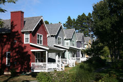 Row of Houses. Row of Multi-Colored Rental Houses Royalty Free Stock Photo