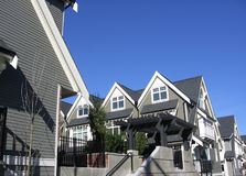 Row Houses. New Row Houses in East Vancouver, BC Stock Images