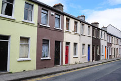 Row Houses. Row of houses in Dublin, Ireland Stock Images