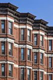 Row houses. American row houses in the typical neighborhood Royalty Free Stock Image