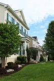Row of Houses. In suburban on cloudy sky Royalty Free Stock Photos