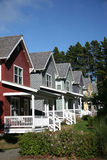 Row of Houses. Row of Multi-Colored Houses Royalty Free Stock Images