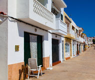 Row of houses. In spain Stock Images