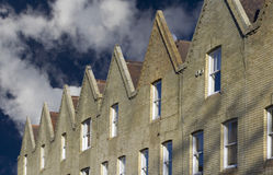 Row of houses. With pointed roofs Royalty Free Stock Photography