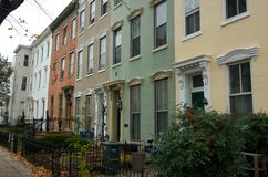 Row houses Stock Images