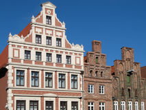 Row of houses. In Lueneburg, Lower Saxony, Germany stock image