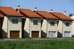 Row houses. New row houses, real estate Stock Images