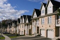 Row of houses. On a sunny morning Royalty Free Stock Images