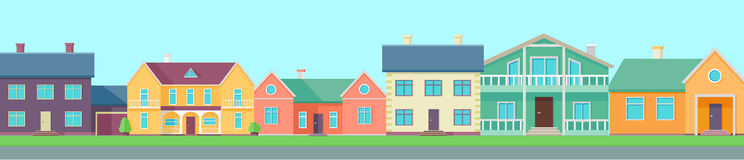 colorful row houses stock illustrations 226 colorful row houses rh dreamstime com Paintings of Row Houses House Made From Cards