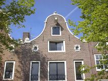Row houses in Amsterdam. Exquisite homes in old Amsterdam Stock Photo