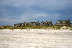 Row of houses by beach Stock Photography